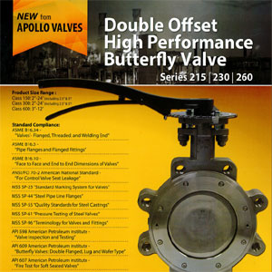 Double Offset High Performance Butterfly Valves